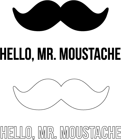 CS005 Mr Moustache